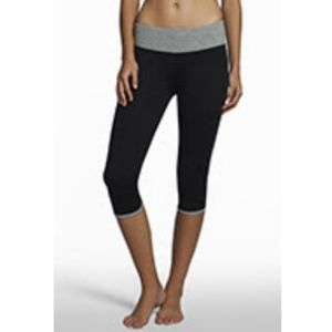 Fabletics Gray Capris Trim Exercise Legging